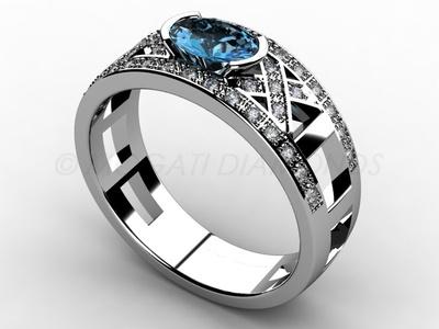Prsteny-Prsten Mogati 004 Z