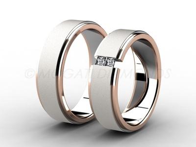 Snubní prsteny-Snubní prsteny 004 Z