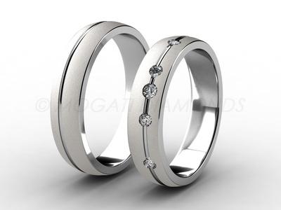 Snubní prsteny-Snubní prsteny 008 Z