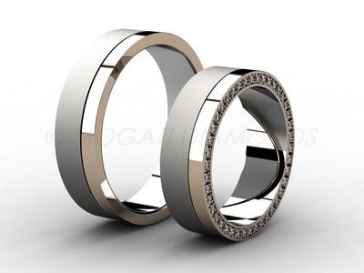 Snubní prsteny-Snubní prsteny 040 Z