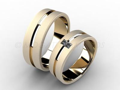 Snubní prsteny-Snubní prsteny 045 Z