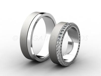 Snubní prsteny-Snubní prsteny 054 Z