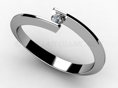 Zásnubní prsteny-Zásnubní prsten 002 Z