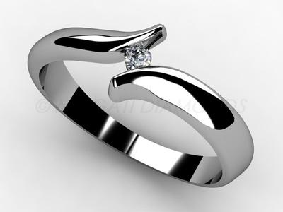 Zásnubní prsteny-Zásnubní prsten 003 Z