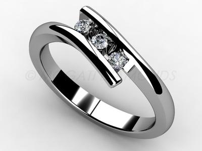 Zásnubní prsteny-Zásnubní prsten 004 Z