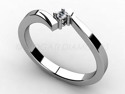 Zásnubní prsteny-Zásnubní prsten 005 Z