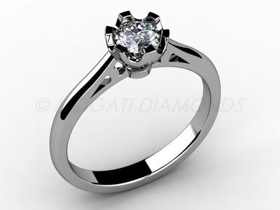 Zásnubní prsteny-Zásnubní prsten 007 Z