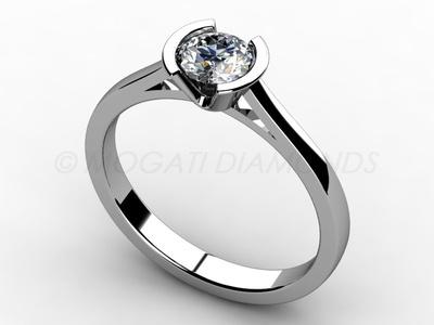 Zásnubní prsteny-Zásnubní prsten 009 Z