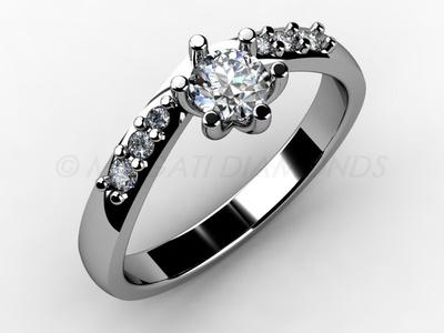 Zásnubní prsteny-Zásnubní prsten 010 Z